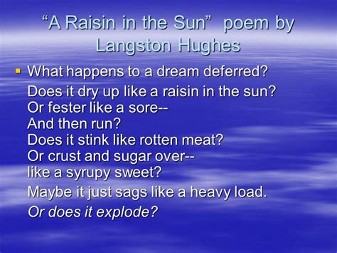 theme of raisin in the sun poem raisin in the sun lorraine hansberry ppt video online download