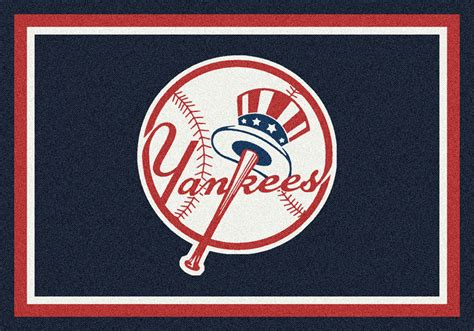 New York Yankees Area Rug New York Yankees Spirit Mlb Baseball Logo Area Rug