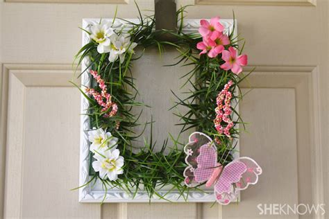 spring wreaths to make make a picture frame wreath for spring