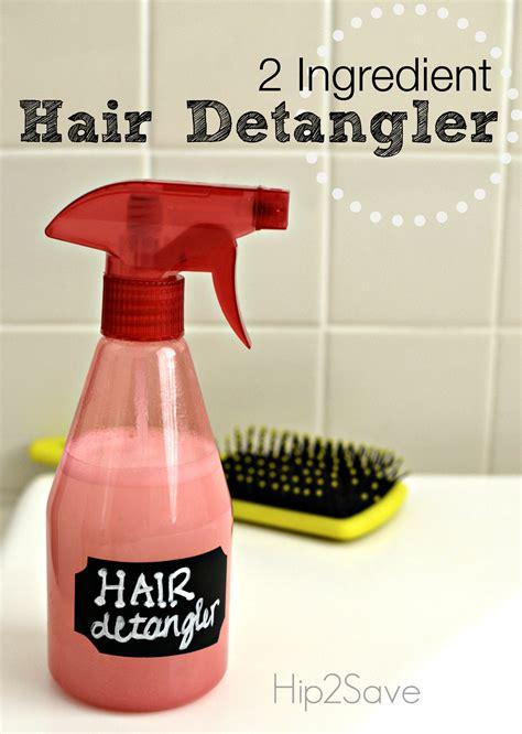 detangler spray hair detangler spray only 2 ingredients hip2save