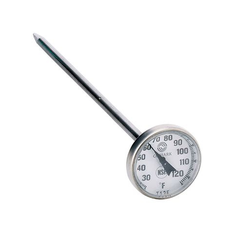 Thermometer Pocket comark t125 pocket thermometer w 1 quot 5 quot stem 25 to 125 degrees f