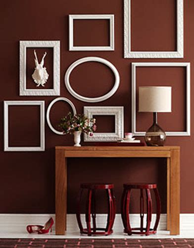 big wall decor ideas empty picture frames stylish wall decoration ideas