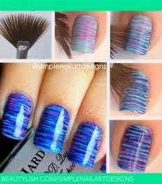 fan brush nail art tutorial simplenailartdesigns s s