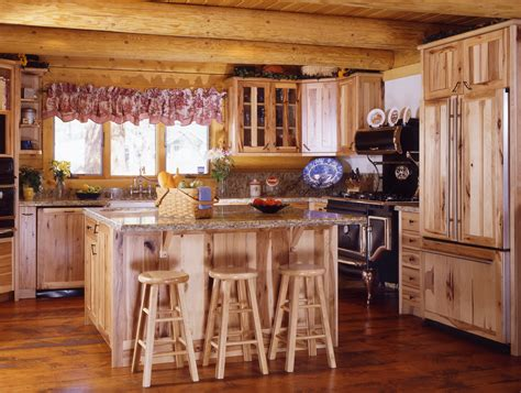 Kitchen Cabinet Auction by Cabin Kitchens 171 Real Log Style