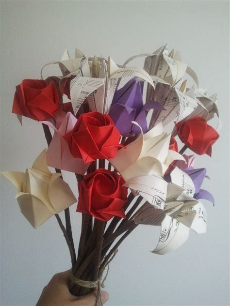 Origami Flowers Bouquet - i you everlast origami flowers bouquet