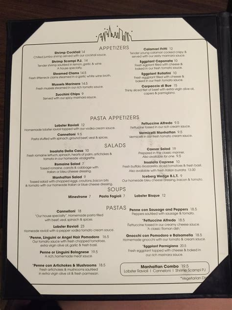 in room dining menu room service menu by manhattan of la jolla restaurant yelp