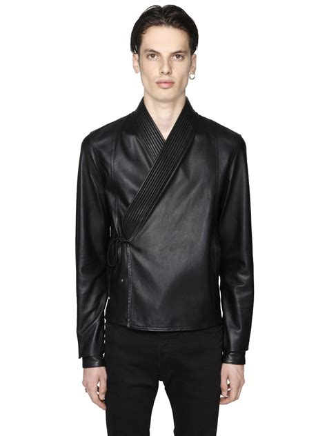 Fashion Environs Models Smooth Leather Diesel Size Chart Diesel Black Gold Smooth Leather Kimono