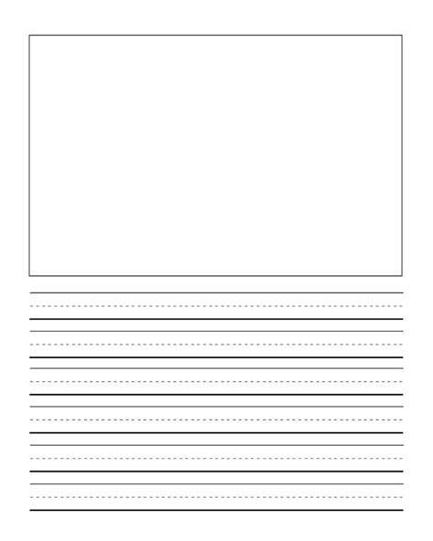 first grade writng paper template with picture journal
