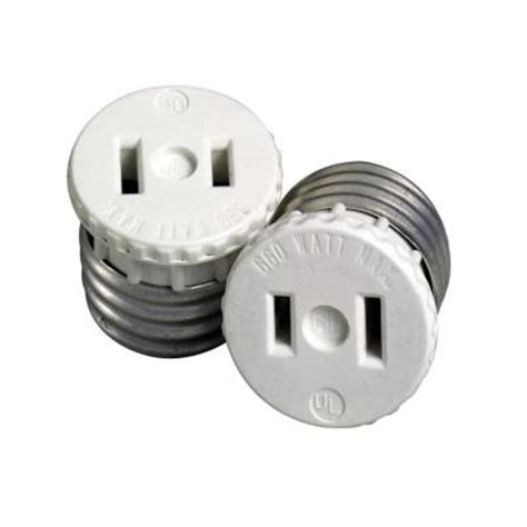 light socket adapter home depot 660 watt l holder to outlet adapter white r54 00125