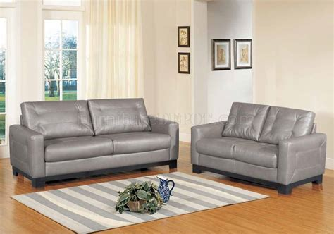 Grey Leather Sofa And Loveseat Corey Sofa In Grey Bonded Leather W Optional Loveseat Chair