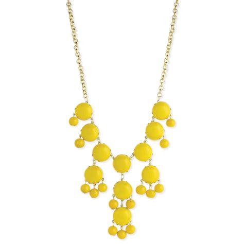 yellow beaded necklace yellow bead bib necklace