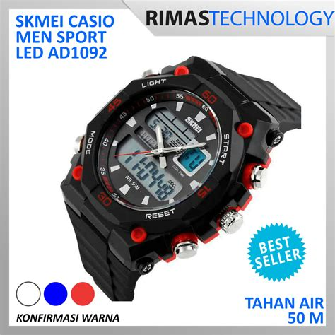 Jam Tangan Pria Skmei Original Sport Casio Anti Air jual terlaris skmei casio sport led water