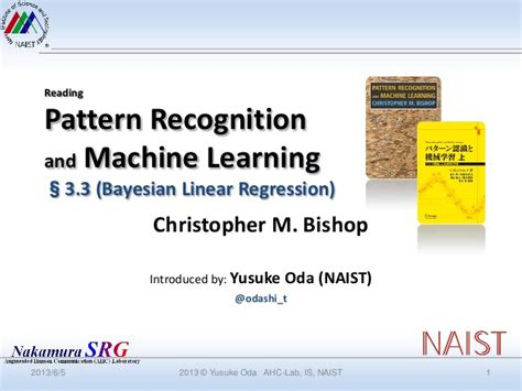 pattern recognition and machine learning website pattern recognition and machine learning section 3 3