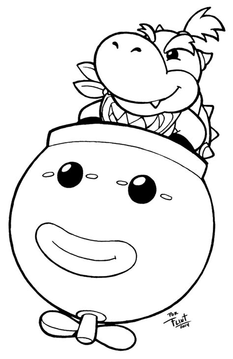 bowser jr free coloring pages