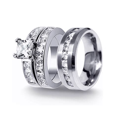 91 matching wedding sets his and hers 14k white