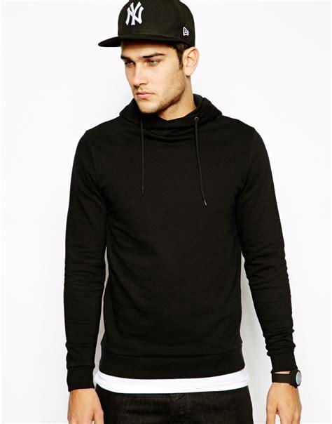 Jaket Hoodie Jumper Polos Pria Premium Material Black blank pullover hoodie with crossover neck buy blank pullover hoodie pullover hoodie hoodie