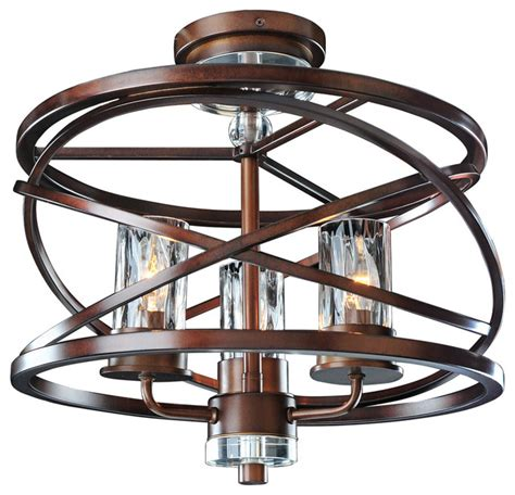houzz ceiling lights kalco lighting 6605ez eternity etruscan bronze semi flush