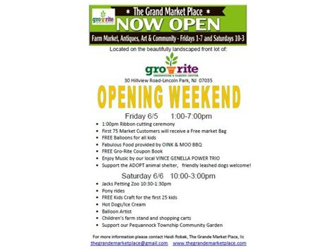 Garden Center Lincoln Park Nj Opening Day Of The Grande Market Place June 5 6 Gro Rite