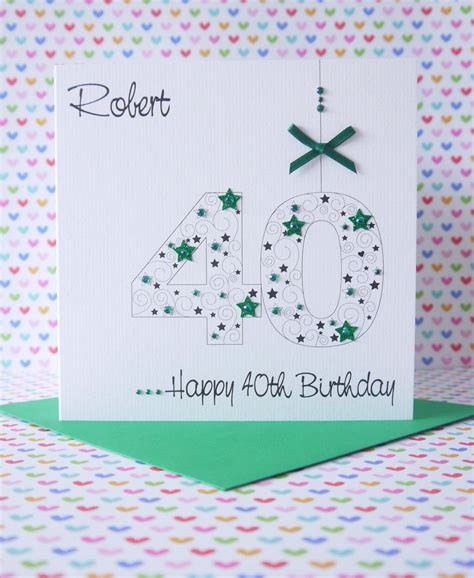 Handmade 21 Birthday Card - personalised handmade birthday card 18th 21st 30th