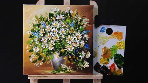 acrylic paint flower how to paint flowers with acrylic paint and a palette