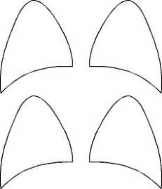cat ear template best photos of cat ear template printable cat ears