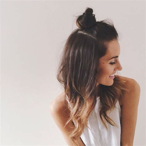 top knot hairstyle how to do hairstyle trend half up top knot be modish