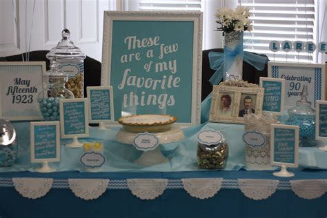 theme few my favorite things birthday party ideas