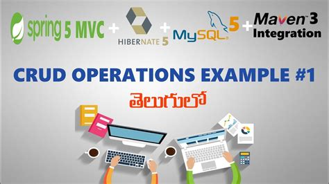 java tutorial videos in telugu spring and hibernate integration class curd operation in