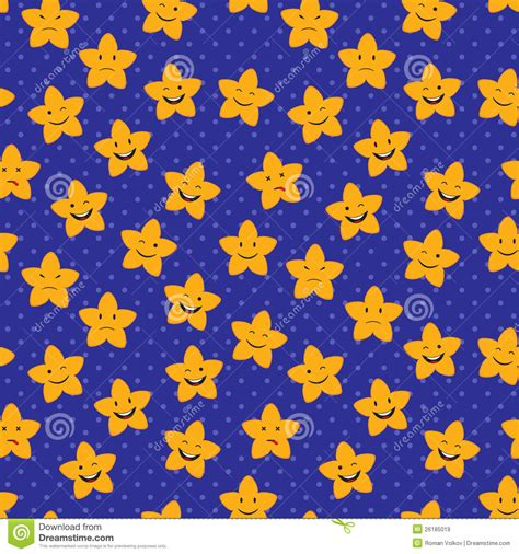 seamless pattern stars cartoon stars seamless pattern royalty free stock images
