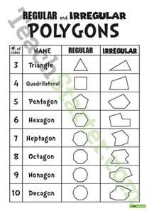 regular and irregular polygons teaching resource teach