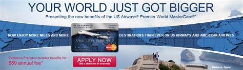 Us Airways Gift Card - us airways mastercard 50k returns more gift card deals