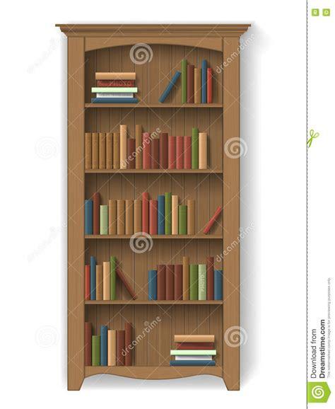 estantes para libros estante para libros de madera con los libros ilustraci 243 n