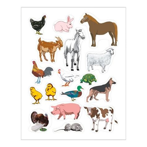 Animal Stickers farm animals stickers stickers for hygloss products