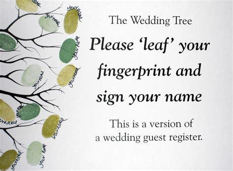 fingerprint tree card template fingerprint guestbook tree wedding or event