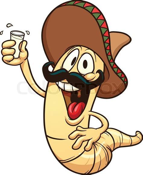 cartoon tequila cartoon tequila worm vector clip art illustration with