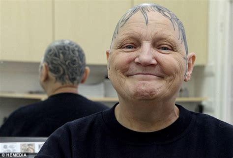 tattooed hair tattoos for hair loss 60 year womans answer