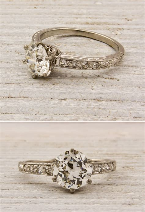 antique engagement rings onewed