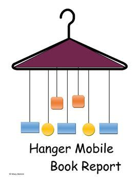 mobile book report hanger mobile book report language arts language and