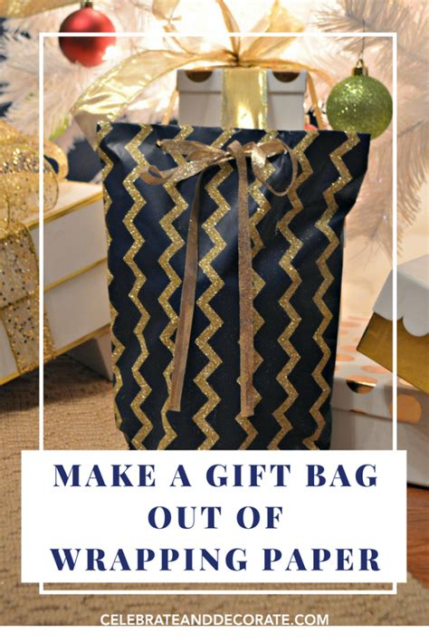 How To Make A Bag With Wrapping Paper - make a gift bag out of wrapping paper celebrate decorate