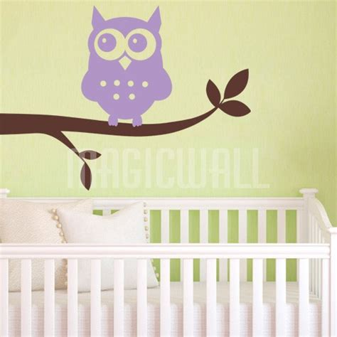 Wall Decals Owl Branch Nursery Wall Stickers Owl Nursery Wall Decals