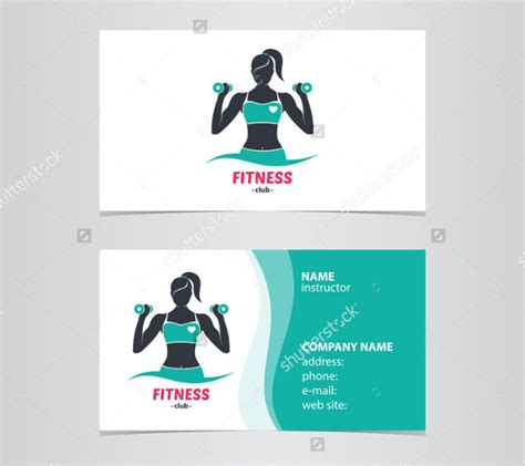 fitness business card templates free 25 fitness business card templates free premium