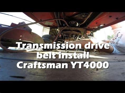 lt drive belt install   doovi