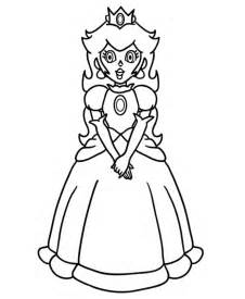 free princess peach coloring pages kids