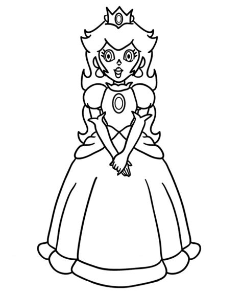free princess peach coloring pages for kids
