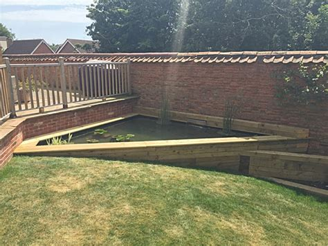 Railway Sleepers Midlands by Raised Pond Gallery Garden Pond Specialists In The