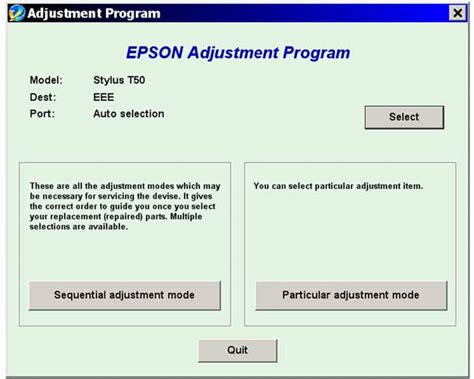 reset t50 gratis epson t50 t59 service adjustment program new service