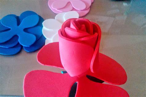 diy como hacer hojas realistas de goma eva para flores i d e a diy realiza flores con l 193 minas goma eva