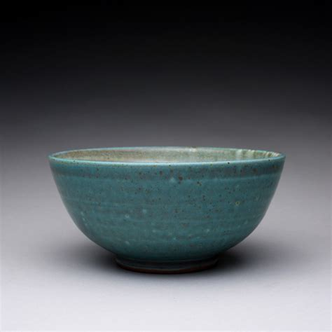 Handmade Ceramic Bowls - handmade pottery serving bowl ceramic bowl with satin green