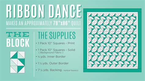 dance tutorial pdf ribbon dance quilt tutorial