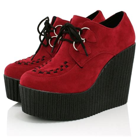 Platform Shoes by Suede Style Creeper Shoes Buy Suede Style